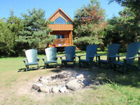Lakeside Cabins on Private Rice Lake Island! Escape From It ALL!