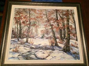 Mary Lampman. Original Oil Painting.