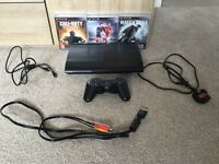 PS3 Slim (12GB) with games and accessories