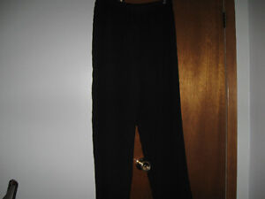 Black Silky Polyester Pant
