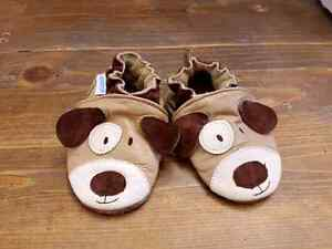 2 pairs of baby boy shoes robeez