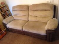 LOVELY 3 + 2 SEATER RECLINER SOFERS IN VERY GOOD CONDITION (PLEASE READ)