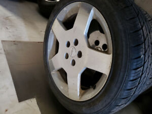 2010 cobalt ss rims and tires. Decent for 400$ firm