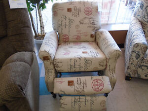 reclining accent chair $199, was $399
