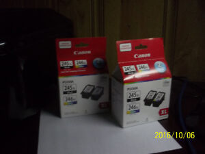2 boxes of brand new canon pixma 245xl and 246xl ink cartridges