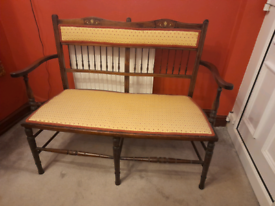 Antique 2 seater parlour chair