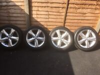 VW Passet Alloy Wheels with Tyres