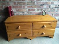 DUCAL MADE IN ENGLAND PINE TV TABLE CHEST FREE DELIVERY