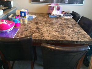 Marble top/bar style table