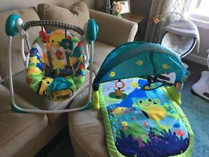 Bright stars baby swing and play mat