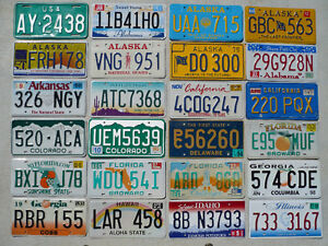 PLAQUES D'IMMATRICULATION / LICENSES CANADA - USA - EUROPE
