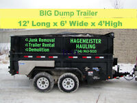 RENT- DUMP TRAILERS / BINS - YOU LOAD - WE HAUL - 204-963-5133