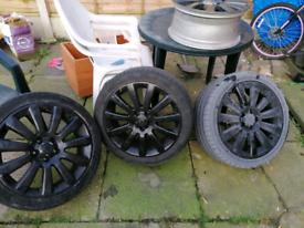 "18"" Vauxhall twin top alloys 5x110"
