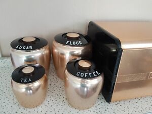 Vintage Canister Set with Bread Box