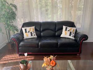 Genuine leather Sofas+Loveseat+Single-THREE PIECES-only for $550