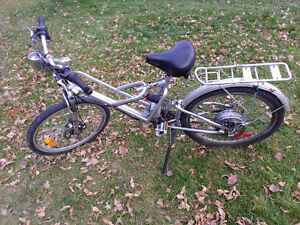 36v 24 speed electric assist mountain bike
