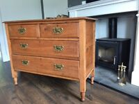 Vintage oak Art Deco drawers