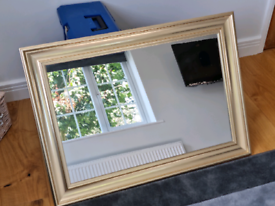 Large Framed (Gold coloured) Mirror