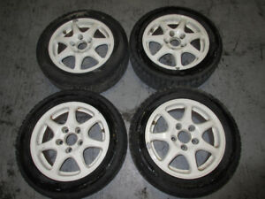 195-55-15 TIRES  HONDA CIVIC EK9 MAG WHEEL 5X114.3 CIVIC EK9 JDM