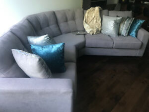 Grey sectional couch