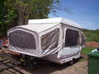 1990 Star craft hard top camper/ hitch cargo carrier/roof racks/