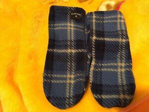 Toddler Polarfeet Kids' Nonskid Fleece Socks - Blue Flannel