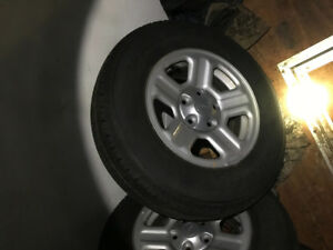 Jeep wrangler mud and snow tires with rims brand new