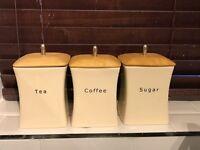 Tea Coffee Sugar Storage Container