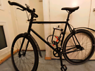 LARGE FRAME + ACCESORIES Teman single speed fixed gear fixie road bike