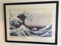 Large great wave of kanagawa print