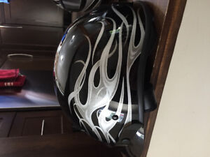 Assortment of helmets  from Harley, snowmobile ,  motorcycle