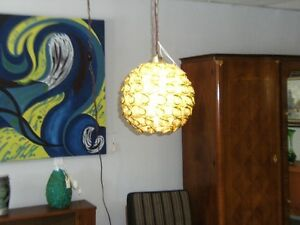 MCM RETRO DOUBLE  SPUN FIBERGLASS SWAG LIGHT Peterborough Peterborough Area image 3