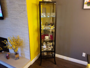 Glass vitrine display cabinet for $115