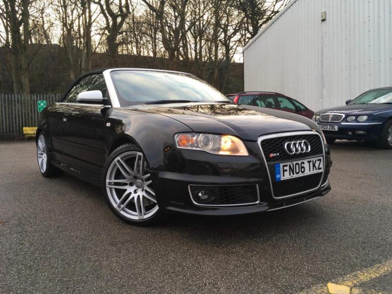 2006 Audi RS4 Cabriolet 4.2 quattro+PHANTOM BLACK CREAM LEATHERS+£1600 SERVICE