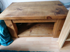 For sale tv unit and it has coffee table that it t