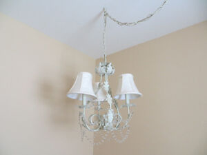 White Chandelier, medium size, suitable for entry, etc.