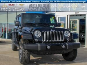 2017 Jeep Wrangler Unlimited Sahara   Trail Rated   Low KMs  - $