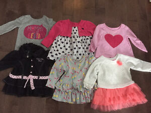Lot of baby girl clothes sizes 6-12 months