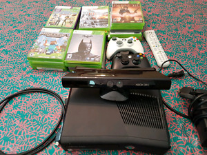 Xbox 360 plus Rock Band and Kinect