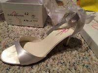 White bridal shoes - size 8