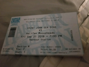 5 TICKETS TO THIS FRIDAYS SEADOGS GAME