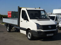 VOLKSWAGEN CRAFTER CR35 2.0TDI 109PS 14FT FLAT IN WHITE. ONE OWNER. WARRANTY.