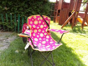 chaise extérieur pour fillette (de camping-pliable)