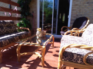 4Pc Twisted Wicker Patio Set