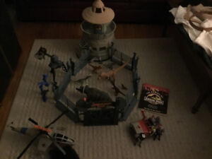 Jurassic Park Playset from the 90's with Dinosaurs and Vehicles