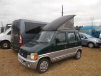 1999 SUZUKI WAGON R+ GA pop top small micro campervan