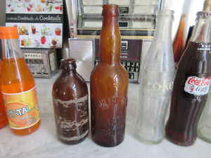 Old Vintage bottles, beer & Soda