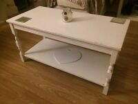 Shabby chic upcycled white coffee table. CHEAP