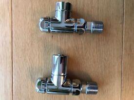 Chrome radiator valves - 2 pairs