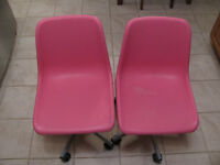 PINK ROLLER CHAIRS